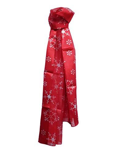 Christmas Scarf Company Weihnachtsschal mit Schneeflocke, Ornamente, Lebkuchen-Kekse - Rot - Einheitsgröße