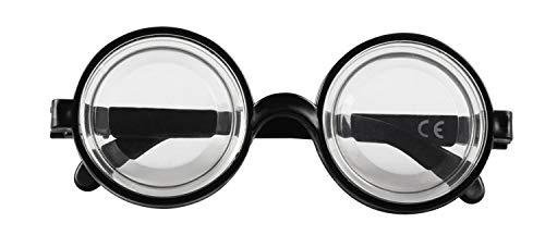 Boland 00371 Brille Nerd, Schwarz