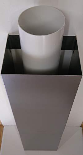 VentilationNord, Tubo in Acciaio Inox o Canale, Rivestimento di Scarico, prolunga per Cappa, cappe isolanti, Forma U, 0,5 m di Lunghezza, Grande