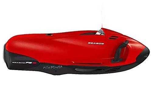 AMGJK Unterwasserscooter Sea Scooter Seascooter Propeller Seeroller Tauchscooter in der Wasser, Wasser Sport Schnorcheln Ausrüstung für ca. Stunde Laufzeit,Rot -