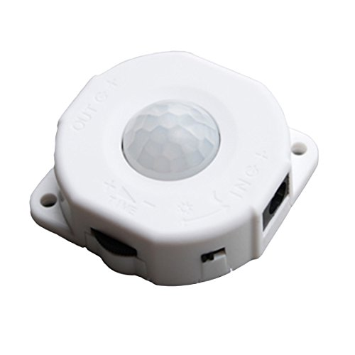 Automatischer Infrarot PIR Bewegungs Sensor Schalter DC 12V 24V 6A für LED Licht Lampe Weiß