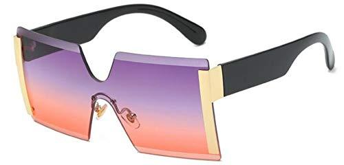 Sonnenbrillen. Frauen Übergroße Brille Halb Randlose Quadratische Sonnenbrille Designer Große Weibliche Sonnenbrille Outdoor Reisen Sommer Staub Uv400 Lila Rot