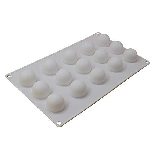x-haibei rund 3D Ice Ball Kuchen Schokolade Bath Bomb Seife CANDY 2,5cm Maker Form Silikon (Bar Bath Seife)