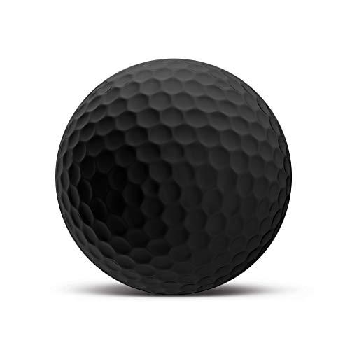 Ge24 Blanko Golfball Black Edition - Individuell Bedruckt mit Ihrem Text Bild oder Logo (1 STK) -