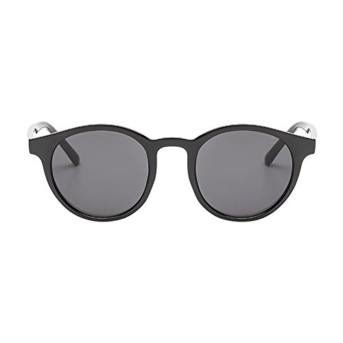 Clacce Runde Retro Lennon Sonnenbrille Vintage Polarisierte Linsen Metall Gestell Rundbrille Hippi...