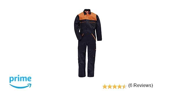 C.B.F. Balducci Tuta da Lavoro Multitasche in Poliestere e Cotone - Blu  Arancione  Amazon.it  Abbigliamento cd4ff3e3d0a