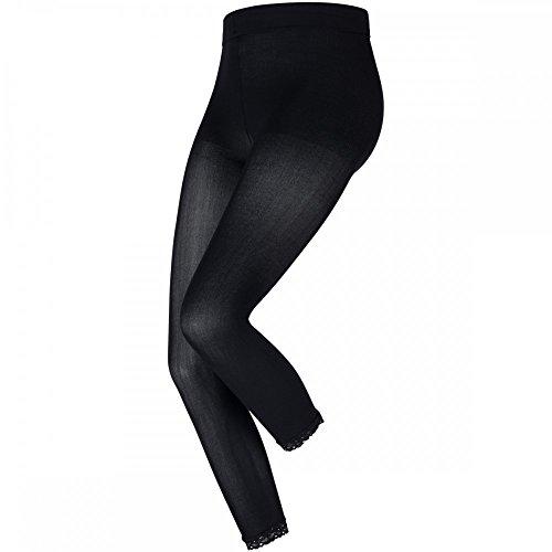 levée ® Legging Blickdicht 7/8 60DEN 1er mit Spitze Schwarz