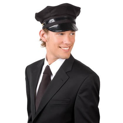 Hut Chauffeur, schwarz (Outfit Chauffeur)