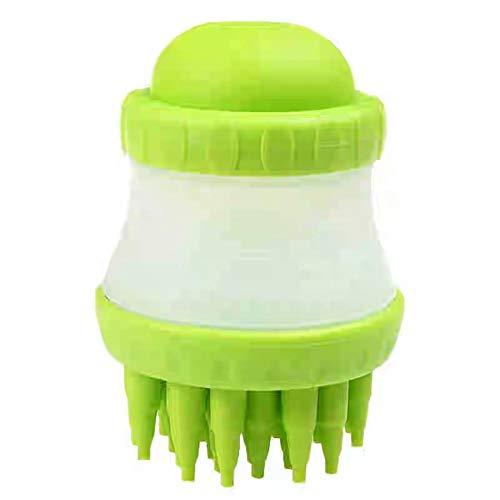 wdd PET Bath Massage Pinsel umweltfreundliches Silikon-Soft und Nicht-toxische Hilfe Hund saubere Haarmassage um Blutzirkulation Detachbar und leicht zu reinigen,Green -