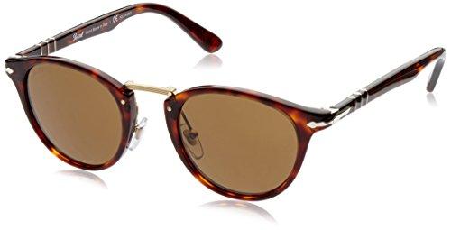 Persol Herren Sonnenbrille 0PO3135S, Braun (Havana 24/57), One size (Herstellergröße: 55)