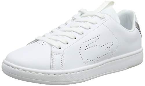 Lacoste Carnaby EVO Light-WT 1193 SFA, Zapatillas para Mujer, Blanco Wht/Slv 108, 40 EU