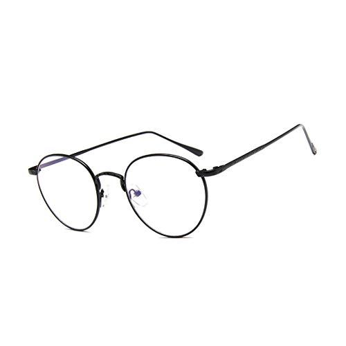 GUKOO Klare Linse Brille Übergroßer Deko brillen Ohne Stärke Nerdbrille Metallgestell Brillenfassung