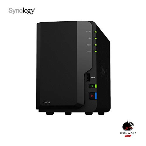 Synology DS218 NAS 4To (2x 2To) Ironwolf