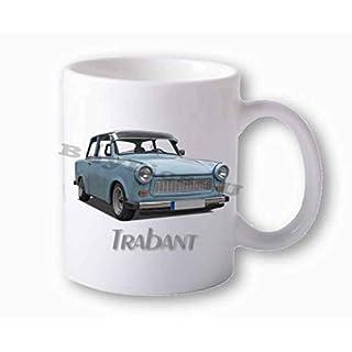 BuyPics4U Fototasse weiß Trabant 601 blau vorn