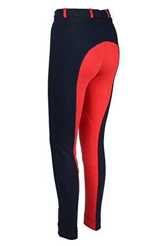 Ladies Horse Riding Jodhpurs Pants NAVY RED All Sizes Horse Riding Jodhpur Equestrian Clothing Soft Stretchy Cotton Spandex