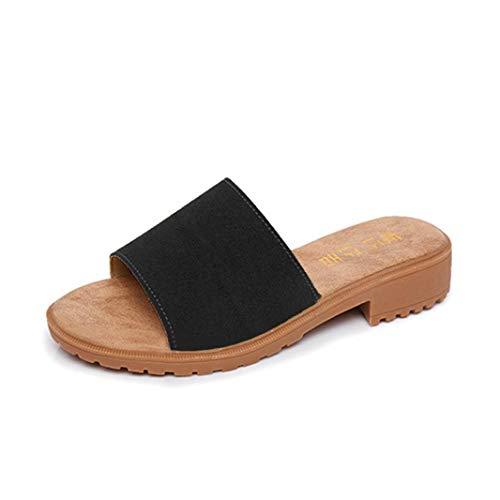 Sandalia de playa mujer, Covermason Zapatillas para mujer Sandalias planas de verano
