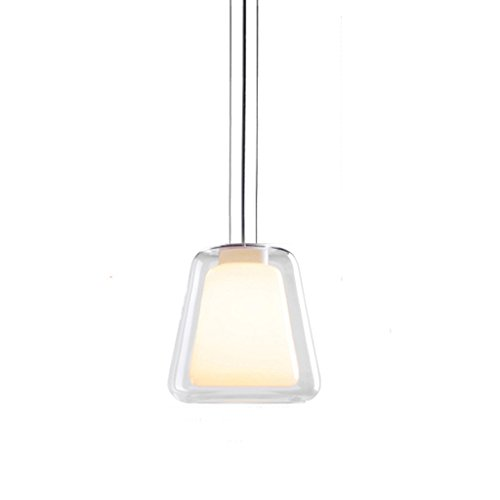 MEGSYL Kreative doppelt verglaste Kronleuchter, moderne minimalistische Restaurant Bar Kronleuchter, geometrische trapezoiden Kunst Deckenleuchte Leuchte - Medallion-deckenventilator