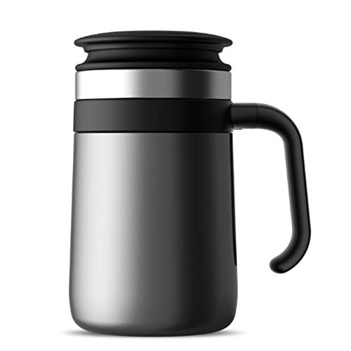 Baoffs Outdoor Sport Thermosflasche Travel Tumbler Double Wall Lebensmittelqualität Edelstahl Kaffeetasse Vakuumisolierung Wasserflasche [450 ml] Trinkflaschen ohne Leck (Farbe : A) - Double Wall Tumbler