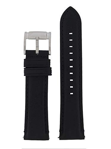 22mm Leder Schwarz Uhrband ME-3053 / LB-ME3053 ()