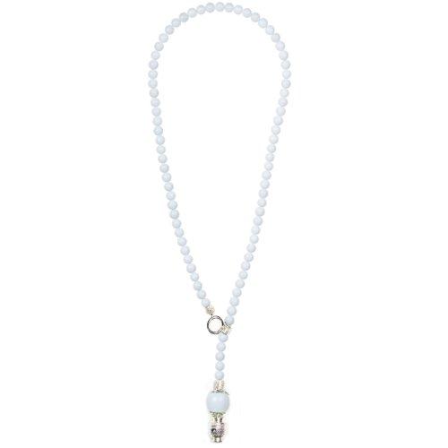 Gothic-rosenkranz-halskette (Rosenkranz Unisex Perlen Halskette coco - weiß)