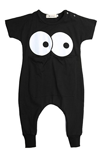 Onesie Kurzarm Baby IHRKleid® Baby Niedlich Cartoon Kaninchen Overall Bodysuit Strampler (80, 8-12 Monat, # Schwarz (Kleider Animal Baby)