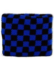Digni® Poignet éponge avec drapeau Damier Bleu-Noir