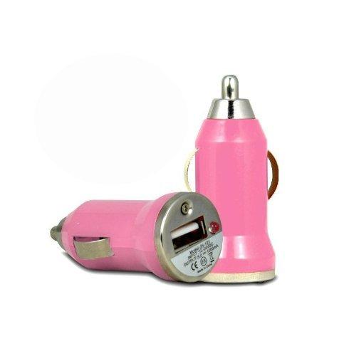 �t USB Ladegerät Adapter für Apple iPhone 3GS 4/4S 5 iPod Auto-Ladegerät Schnelle Bullet In Car USB-Ladegerät Rosa (Rosa-ladegeräte)