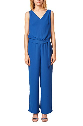 ESPRIT Collection Damen Jumpsuit 068EO1L002, Blau (Bright Blue 410), 34