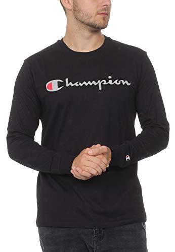 Champion Herren Crewneck Long Sleeve T-Shirt, Schwarz (NBK Kk001), XX-Large