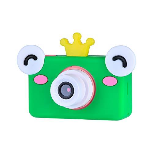 Funkprofi Digitalkamera für Kinder Kinderkamera mit Cartoon Frosch Schutzhülle Kidizoom Kids Kamera Fotoapparat Full HD 1080P 8 Megapixel 2 Zoll HD Bildschirm Rosa