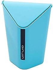 Swadhin Plastic Trash Desk Garbage Dustbin with Swing Lid (Small Size-6x5x7inch, 1.5Ltr)