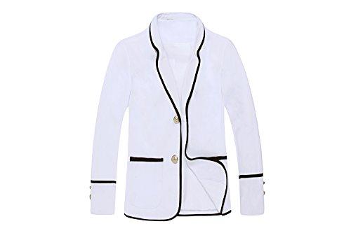 Nuoqi® Mädchen Schule einheitliche Blazer Jacke Cosplay Kostüm (M, CC34-WC)