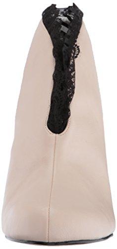 Pleaser Damen Jenna-105 Pferdeschuhe Beige (Cream Faux Leather-Blk Lace)