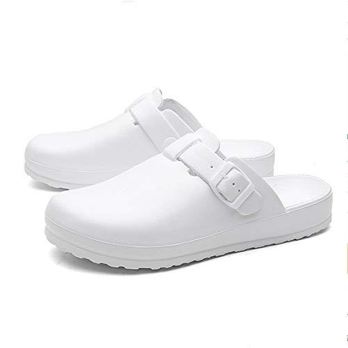 hysxm Zapatillas De Mujer Zapatos Quirúrgicos Hospital Sandal Mules Zapatos De Enfermería Médica Sala De Operaciones Zapatillas D, 42