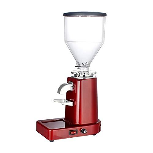 Yajiemei 919L elektrische Grinder kleine halbautomatische Kaffeemaschine (Color : Red)