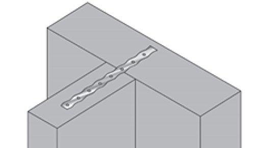 Mauerverbinder Edelstahl 300 x 0,5mm, 250 Stück Bauaufsichtlich Zugelassen 510300