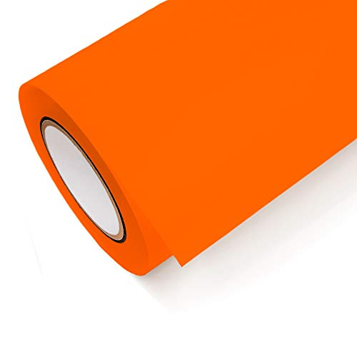 NEON Folie Oracal 6510 Fluorescent Cast - Klebefolie Möbel Folie Deko Folie Autofolie - Farbe Neon Orange - 037 - Breite 1m - Rollenlänge 1m
