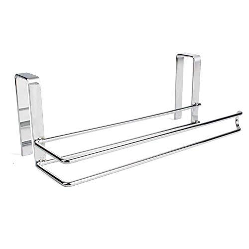 ZYCX123 Papiertuch-Aufhänger-Halter-Edelstahl-Küchenrollenpapier Handtuchhalter Tissue Aufhänger Organizer Zahnstange für Küche unter Kabinett über Tür
