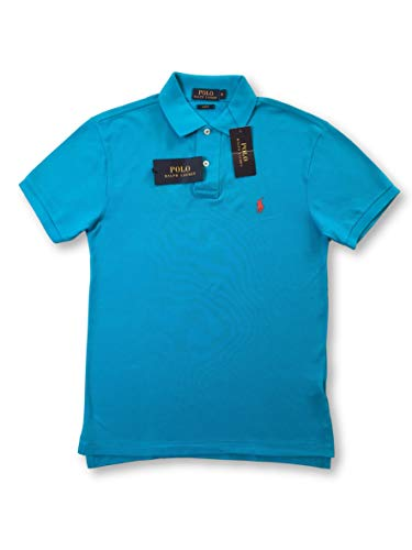 Ralph Lauren Polo slim fit polo in Caribbean blue - S (Polo Shirt Ralph Khaki Lauren)