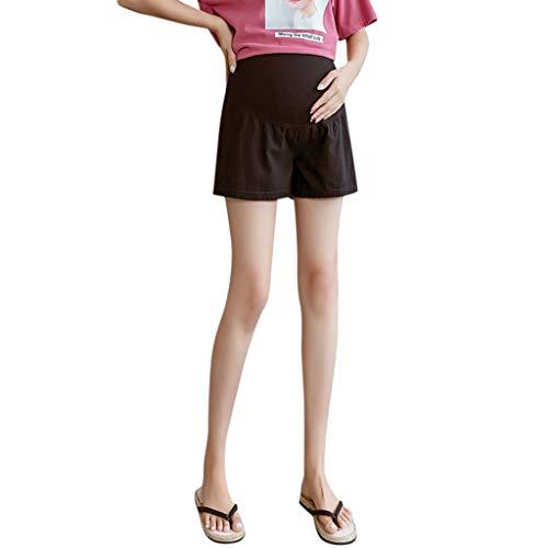 Pageantry Damen Lose Einfarbige Lässige Sommer Shorts Mutterschaft Hohe Taille Stützgürtel Komfort Denim Shorts Schwangere Kurze Jeanshose Sport Yoga Hosen Umstands Leggings -