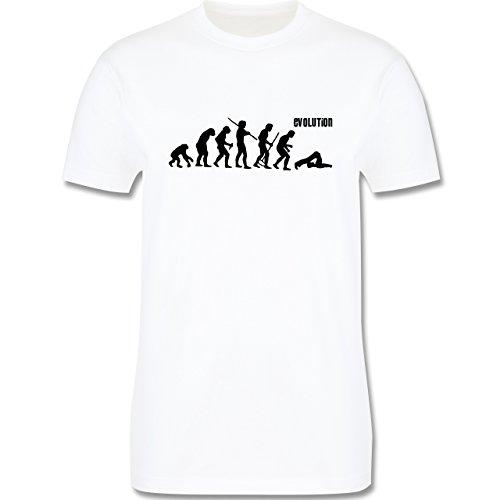 Evolution - Pilates Evolution - Herren Premium T-Shirt Weiß