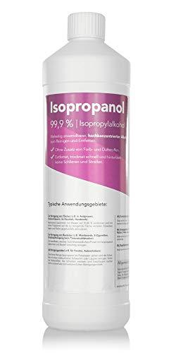 Isopropanol IPA 99,9% – Isopropylalkohol/Reinigungsalkohol für Küche, Haushalt, Kosmetik und Industrie – Ideal als Reinigungsmittel und Fettentfernung (1000ml)