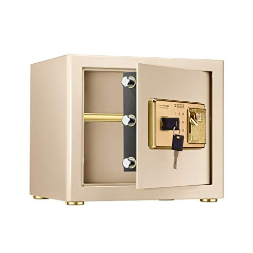 Preisvergleich Produktbild Safes & Schränke Sichere Hochsicherheitsgürtel Fingerabdruckschloss Stahlschloss Sicherheit Home Office Währung Bargeld Aufbewahrungsbox Gold 370 * 310 * 300mm