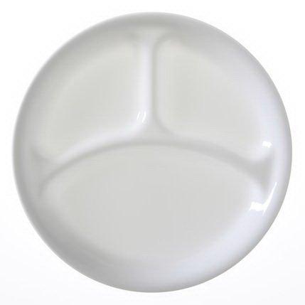 CORELLE Livingware Winter Frost White 10-1/4 Divided Dinner Plate by CORELLE (Frost Livingware Corelle Winter)