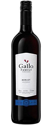 gallo merlot 6x 0,75l - 2017er - E. & J. Gallo - Family Vineyards - Merlot - Kalifornien - Rotwein halbtrocken