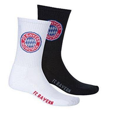 FC Bayern München Lot de 2 paires de chaussettes de sport, tailles différentes
