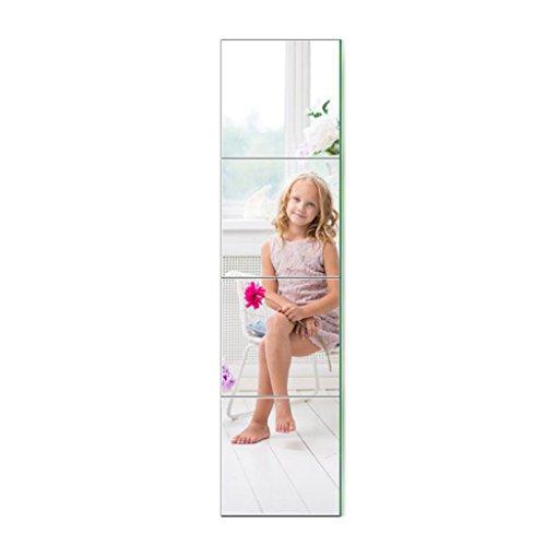 ZI LING SHO- Dressing Spiegel Frameless Wandpaste Wand Student Spiegel Schlafsaal Explosionsgeschützte in voller Länge Spiegel Stitching Kombination Glas Spiegel (Voller Spiegel Länge In Glas)