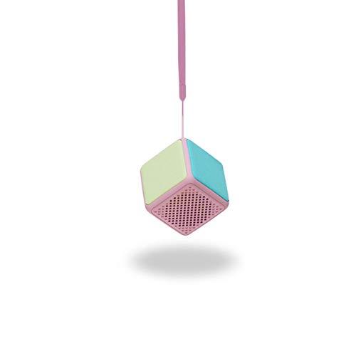 ZJH Tragbarer, kabelloser Bluetooth-Lautsprecher, Rubik's Cube Mini-Lautsprecher für HD-Freisprechanruf und One-Click-Foto aufnehmen,A
