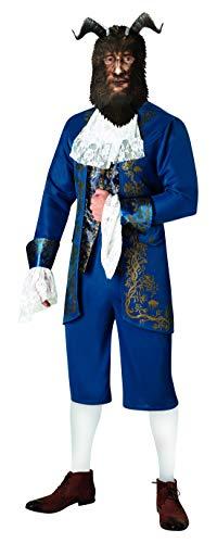 Luxuspiraten - Herren Männer Beast Biest Kostüm, Live Action Movie mit Jacke, Hose, Kragen und Maske, perfekt für Karneval, Fasching und Fastnacht, M/L, ()