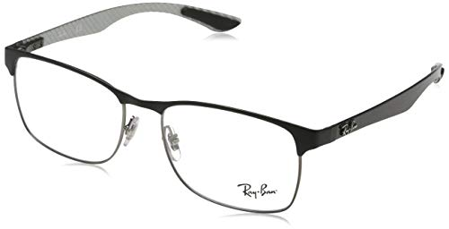 Ray-Ban Herren RX8416 Brillengestell, Grau (Gunmetal/Matte Black), 53